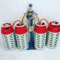 Рампа пропанова на 4 балона 4 кг/год 37 мбар (автоматична робочий та резервний), комплект