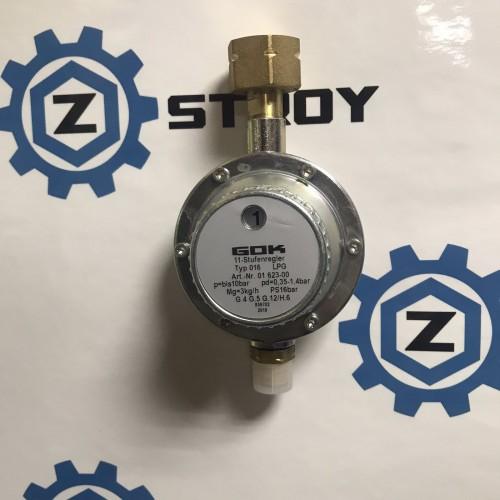 Регулятор тиску газу 3 кг/год 0,35-1,4 бар Komb.A * G3/8LH-KN 11 ст. перемикання