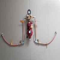 Рампа пропанова на 4 балона 12кг/год 37-50 mbar AG GF (автоматична робочий та резервний), комплект