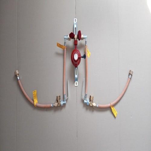 Газобалонка GOK на 4 балони, 6кг/год 50 mbar (ручна на м'якій основі)