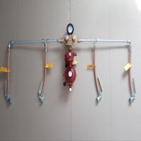 Рампа пропанова на 4 балона 12кг/год 37-50mbar (автоматична робочий та резервний), комплект