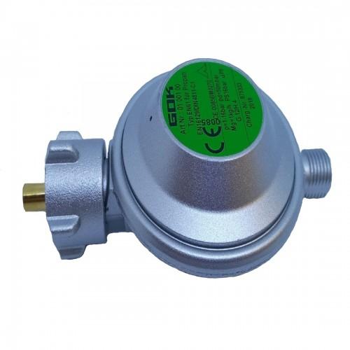 Редуктор тиску газу gok 1 кг/год 50мбар PS16 bar для балона з евровентилем KLF