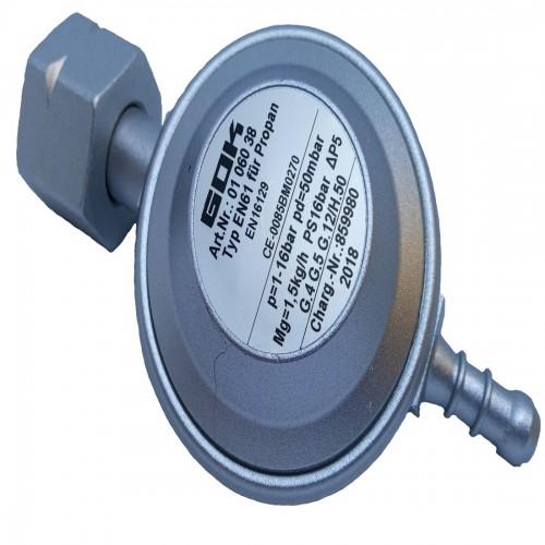 Регулятор тиску газу gok EN61 1,5 кг/год 50мбар Komb.Ax штуцер виходу 9мм
