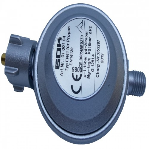 Регулятор тиску газу gok 1кг/год 29мбар KLFxG1/4LH-KN, EN61