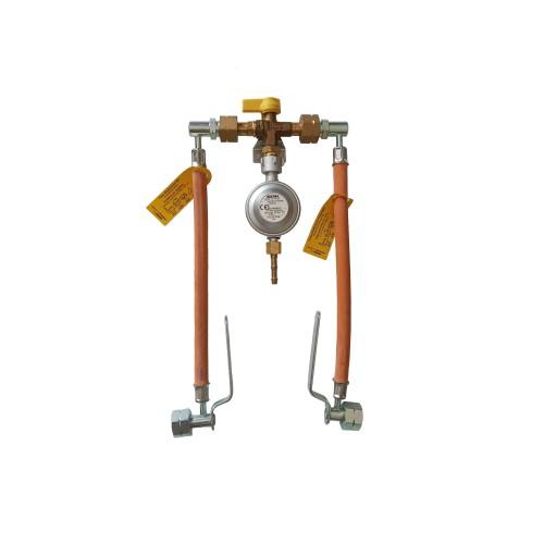 Газобалонка на 2 балона 1,5 кг/год 37 мбар (Робочий та резервний), комплект