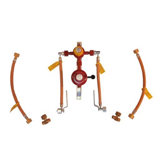 Рампа пропанова на 4 балона 6кг/год 50 mbar AG GF (автоматична робочий та резервний), комплект