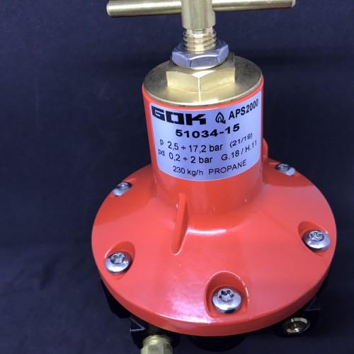 Регулятор тиску газу APS2000 230 кг/год 0,2-2 bar IG 3/4NPT з маноментром