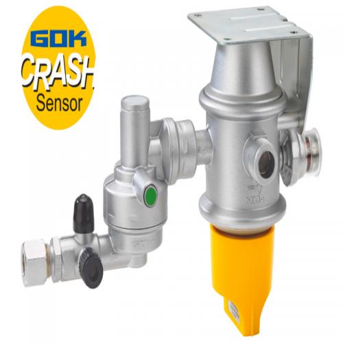 Автоматичний переключаючий клапан GOK з вбудованим регулятором і пристроем захисту випадку ДТП.2 х AG M20 х 1,5 RVS10/8 30 мбар 1,5 кг / час