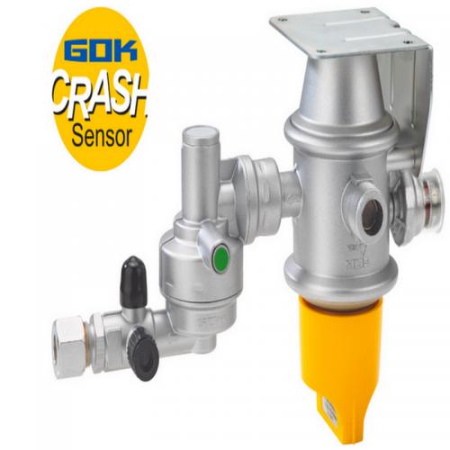 Автоматичний переключаючий клапан GOK з вбудованим регулятором та механічним датчиком удару. 2 х AG M20 х 1,5 RVS 8 50 мбар 1,5 кг.ч