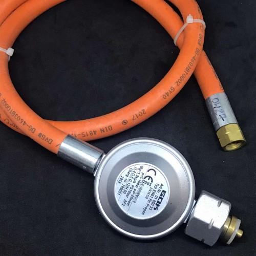 Газовий комплект для гриля -30C* комбі A 29 (30) мбар вихід 1/4 ліва 1 метр