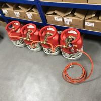 Газобалонка на 4 балона рампа для композитних балонів