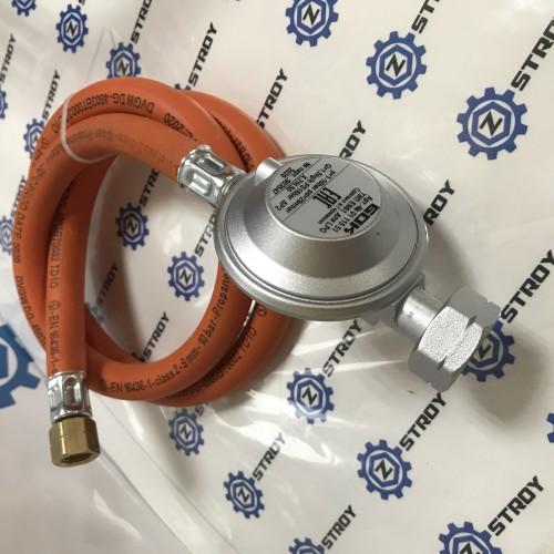 Газовий комплект для гриля -30C* Shell СНД 29 (30) мбар вихід 1/4 ліва 1 метр