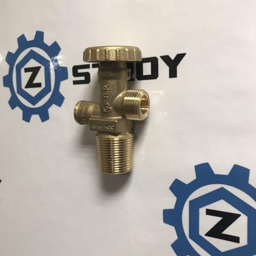 Вентиль газовий балонний з запобіжним клапаном 25Е Shell W21,8 *1/14 LH