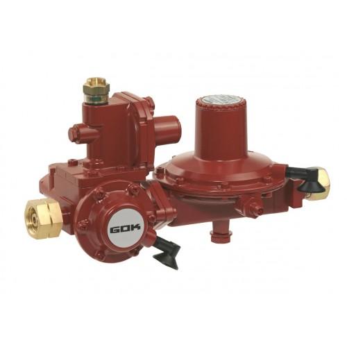 Регулятор низького тиску GOK FL92 12кг/год 37 мбар з ПЗК та ПСК GF * RVS 15мм