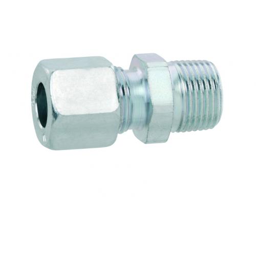Газовий адаптер перехідник для труб RVS 8 перехід на зовнішню 1/2 праву різьбу