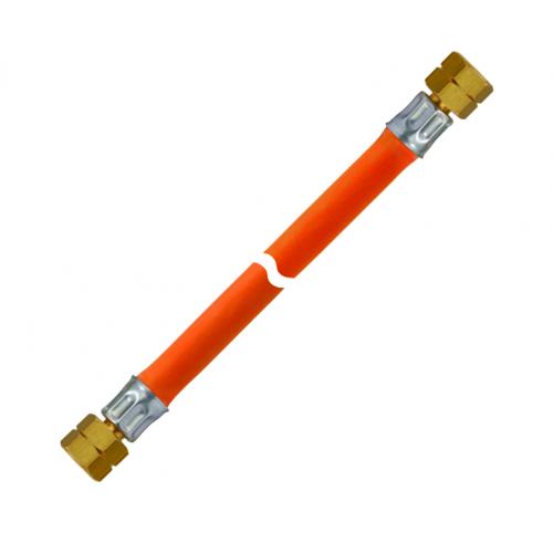 Шланг газовий комплектуючий -30 фітинг латунь 1/4 ліва 1/4 ліва довжиною 400мм