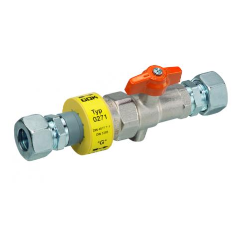 Ізоляційна деталь з краном для електричного розмикання RVS 18 * RVS 18 DN15 20 бар