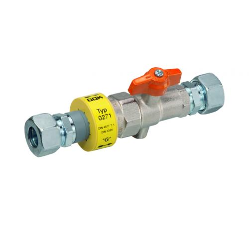 Ізоляційна деталь з краном для електричного розмикання в переді чи після вводу в будинок +100 *C