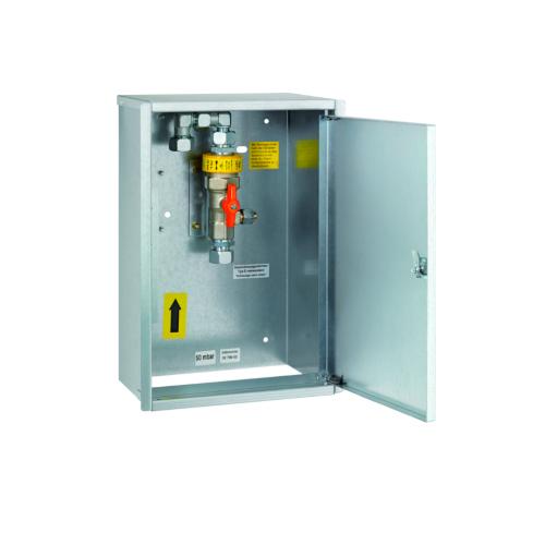Навісний шкаф з ізоляційною детялью та краном для закріплення на стіну RVS 18 * RVS 18 DN20