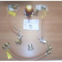 Газобалонка GOK на 4 балона, 4 кг/год 50 мбар, автоматичним перемикаючим блоком та вбудованим регулятором м'яка зв'язка